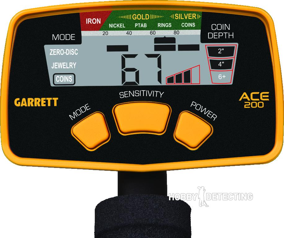 Garrett ACE 200 Panel
