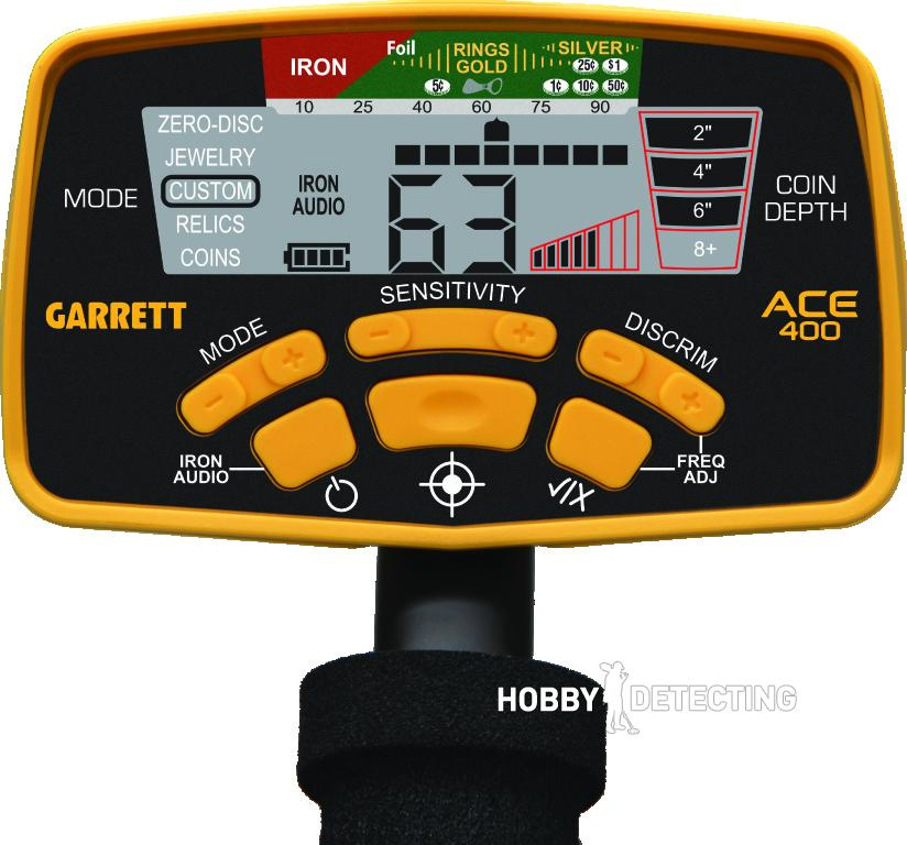 Garrett ACE 400 Panel