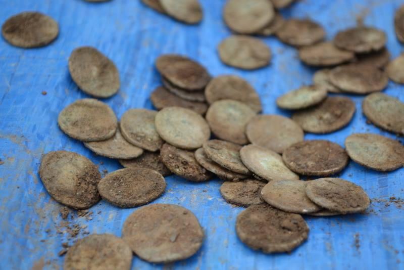 Клад римских серебрянных монет найден XP Deus