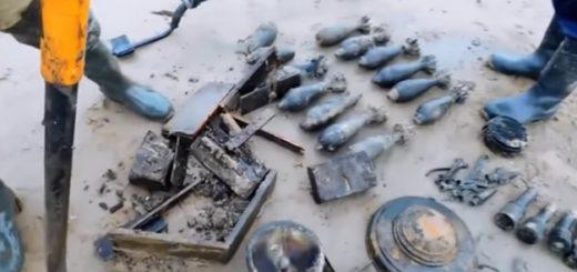 Коп по войне боеприпасы Копательский Дайджест с металлодетектором