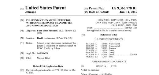 Новый патент у 1st Texas Products Импульсная Индукция Pulse Induction