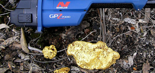 золотой слиток найден с Minelab GPZ-7000 металлодетектор