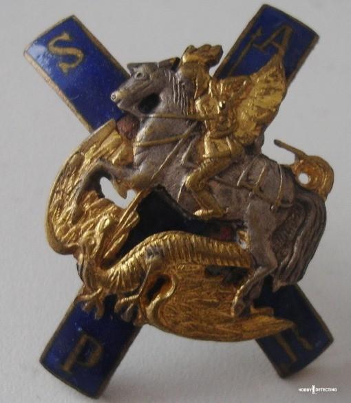 Копанный Нагрудный знак лейб-гвардии Московского полка (когда находка с большой историей! Фото+)