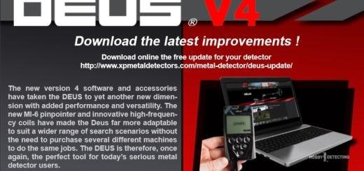 Доступно обновление V4.0 для металлоискателя XP Deus! (Обновляемся!)