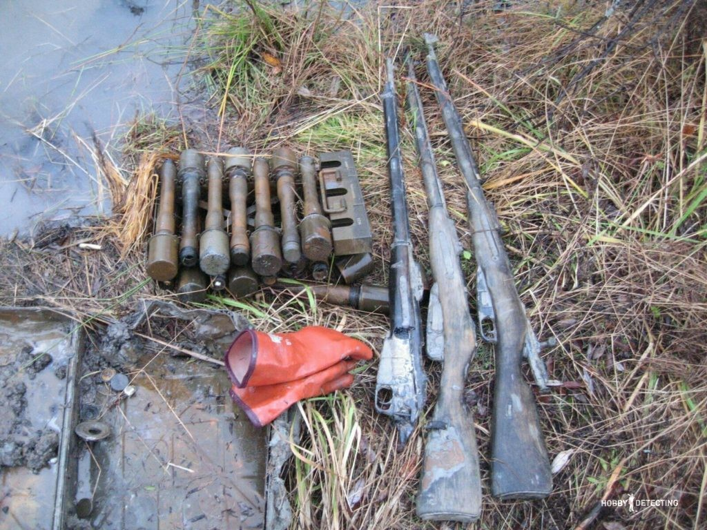 винтовка мосина находка копатель коп по войне черные археологи