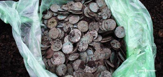 Найти клад серебрянных монет с дешевым металлоискателем? Легко! (Находка огонь+)
