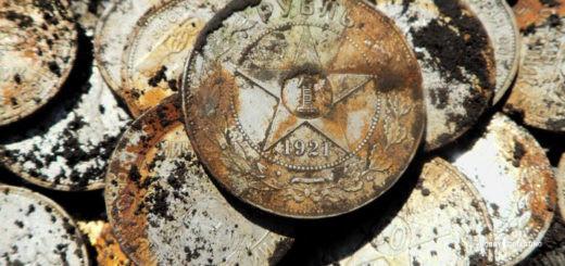 Клад серебрянных монет СССР из ржавой железной банки (советы копарям+)