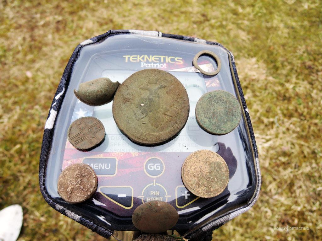 Обзор катушки CORS Strike на примере металлоискателя Teknetics Patriot - и нашли редкую монету! (фото+)