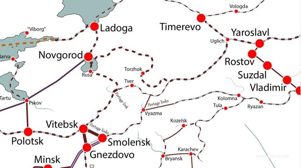 Интерактивная карта торговых путей в мире XI-XII век (ссылка в посте)