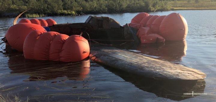 Подъём штурмовика ИЛ-2 (ранняя модификация), Луостари, Мурманская область, 2018 год
