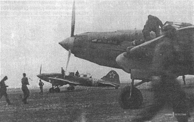 Штурмовик Ил-2 б/н 07 из 943 шап 227 шад 13 ВА