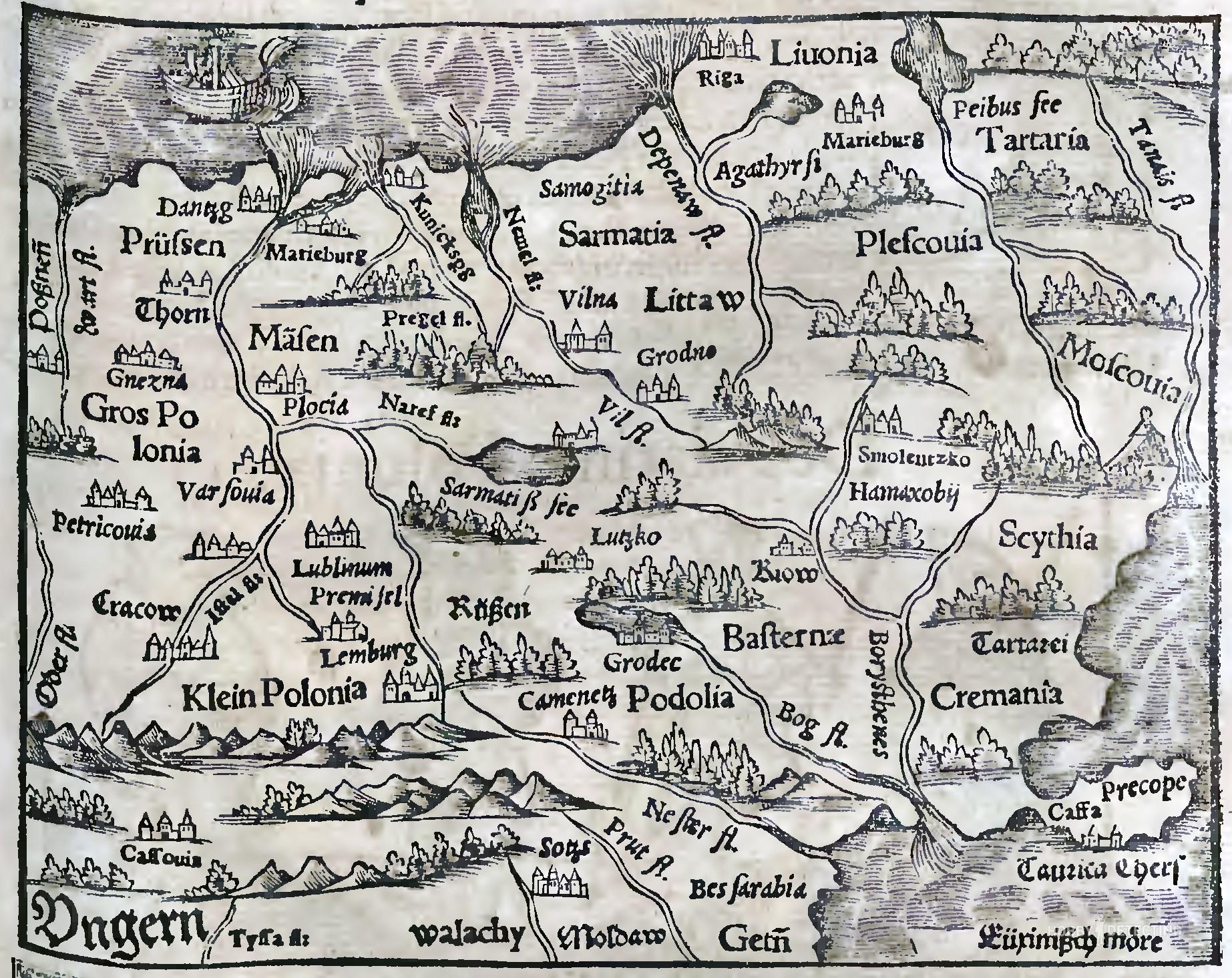 Как составляли старинные карты (чертежи) русских земель?