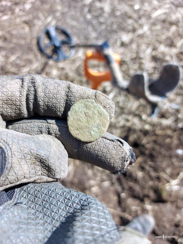 День полный находок или как я помимо монет нашёл старинную фибулу!
