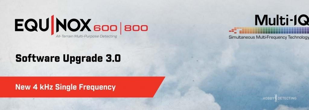 Minelab Equinox - новая прошивка версия 3.0