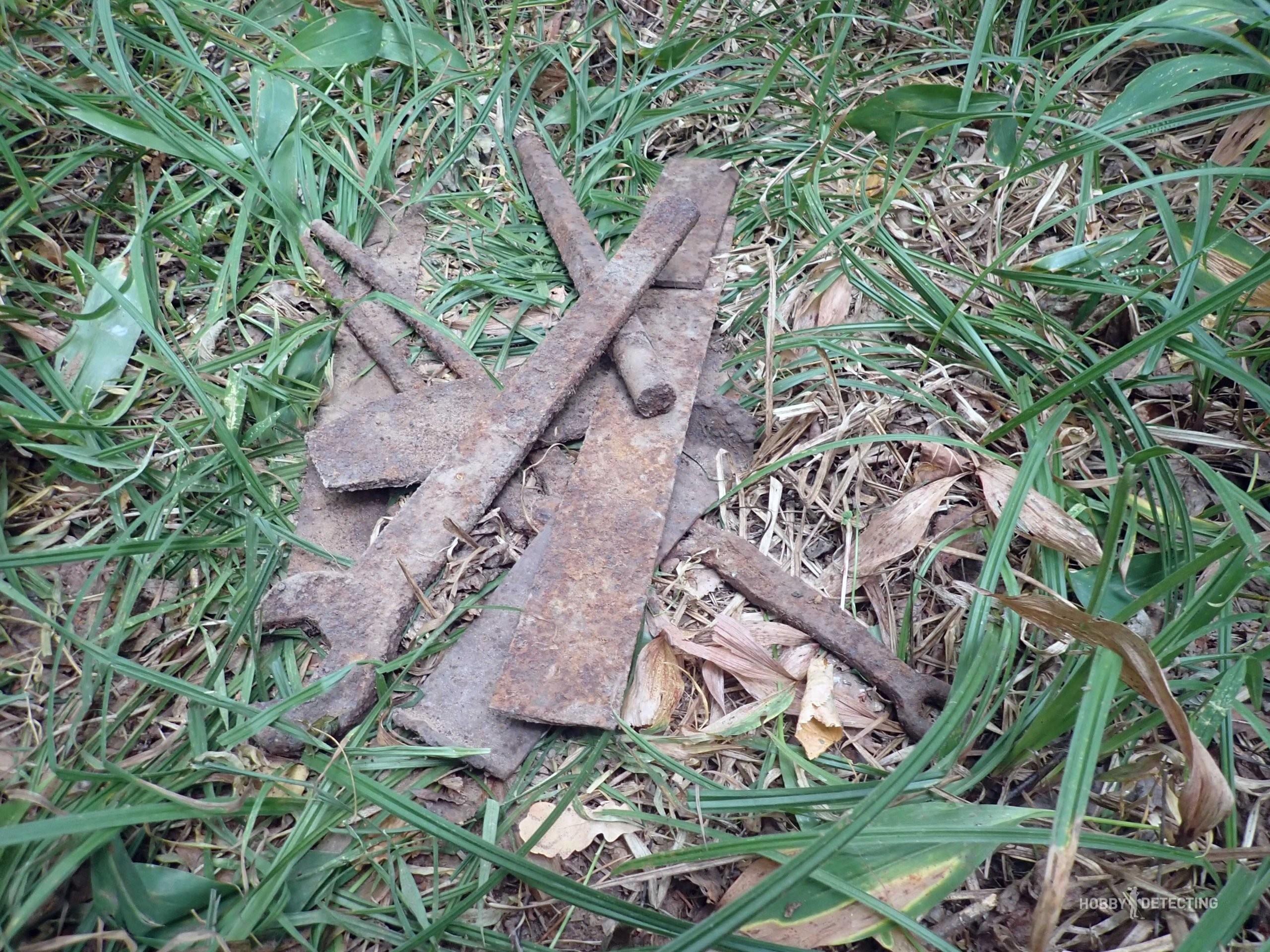 Нашли в лесу место где железо звенит на каждом шагу. День третий + фото